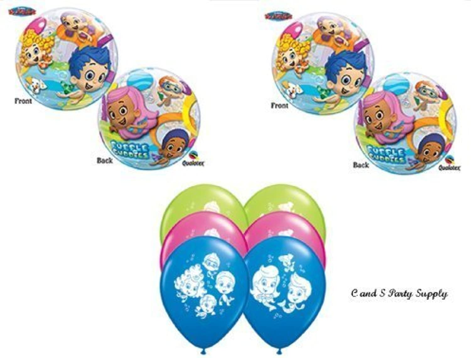 Bubble Guppies 8 PIECE Birthday Party Balloons Decorations Supplies NEW  by Qualatex by Qualatex