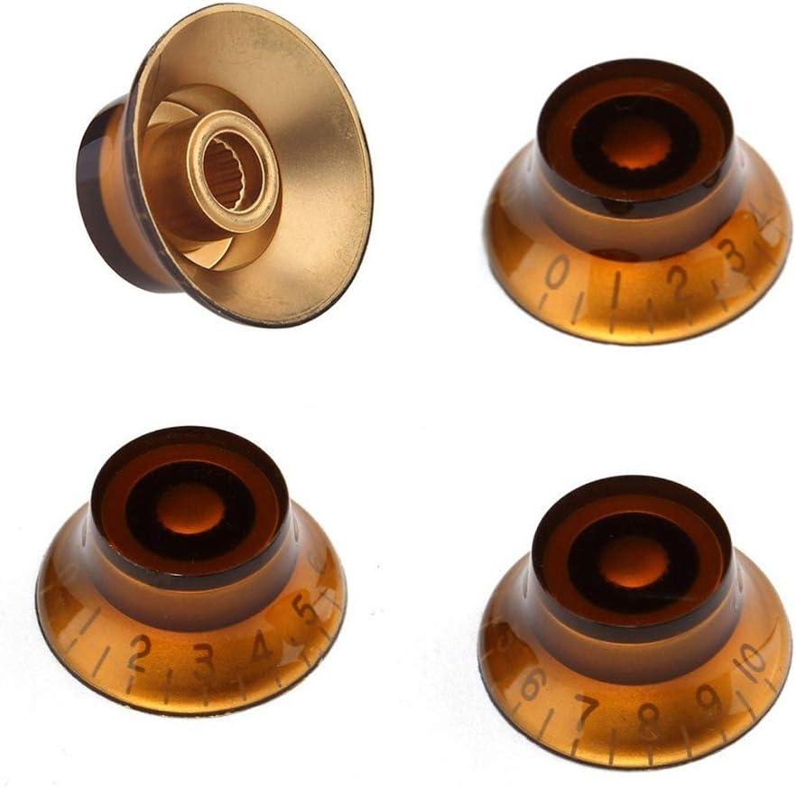 Arlington Mall 4 Pieces Plastic Speed Control Knobs Top LP El Bell for Nashville-Davidson Mall Knob Hat