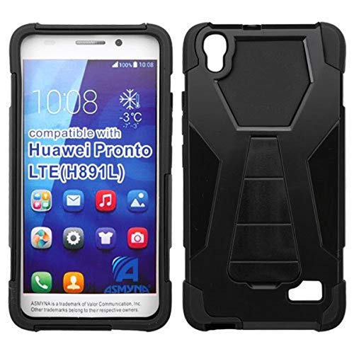 Asmyna Phone Case for HUAWEI H891L Pronto LTE - Retail Packaging - Black