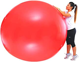 MZS Tec 72 Inch Big Round Balloons Red Thick Giant Balloons for Photo Shoot Wedding Baby Shower Birthday Party Decorations