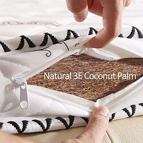 Colchón de coco natural de tres pliegues, estera mate ortopédica plegable 3e Cojín de colchón de palma de coco Almohadilla portátil para acampar Oficina Cama para invitados-c 135x200cm (53x79inch