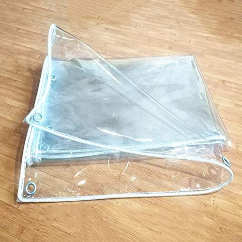 Zeltplanen SUBBYE Plane Transparent Wasserdicht, Dicker Kunststoff-PVC-Vorhang, Outdoor Plant Gewächshausschattierung Isolierung Cold Shelter, 0,45 Kg/M² (größe : 2×4M)