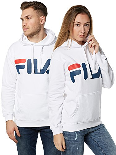Fila Classic Logo Hoody, Sweatshirt,Weiß,M
