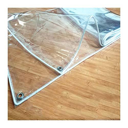 YJFENG Lona Transparente De 0,3 Mm, Cubierta De Plástico De PVC Resistente, A Prueba De Viento A Prueba De Polvo con Ojal De Metal para Cortinas De Balcón, Pérgola (Color : Claro, Size : 1.6X2M)