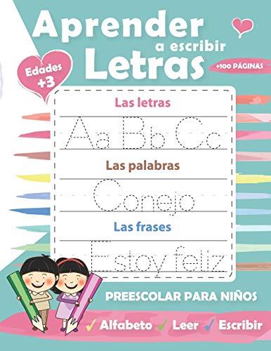 Aprender a escribir Letras: Perfecto para aprender a rastrear las letras mayúsculas y minúsculas-Ejercicios divertidos para aprender el alfabeto: ... divertidos para aprender el alfabeto