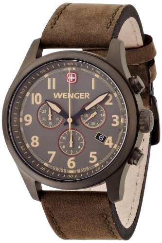 Wenger Herren-Armbanduhr XL Terragraph Chronograph Quarz Leder 01.5431.103
