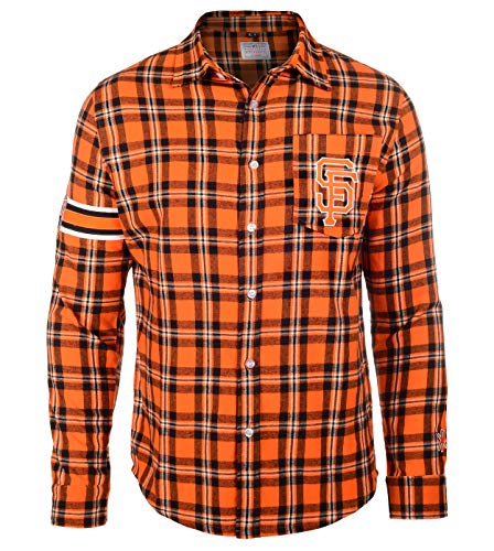 FOCO MLB SAN Francisco Giants Wordmark Basic Flannel Shirt Extra Large