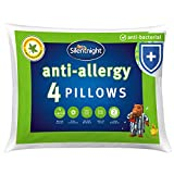 Silentnight Anti-Allergy Pillow - White, Pack of 4, Anti-Bacterial pillows