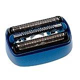vhbw 1x cabezal compuesto de láminas, hojas y cuchillas compatible con Braun CoolTec CT4S, CT5CC, CT6CC Typ 5676 afeitadoras - negro/azul