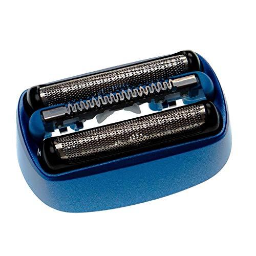 vhbw Rasierkopf kompatibel mit Braun CoolTec CT4S, CT5CC, CT6CC Typ 5676 Elektrorasierer - Scherkopfkassette, schwarz/blau