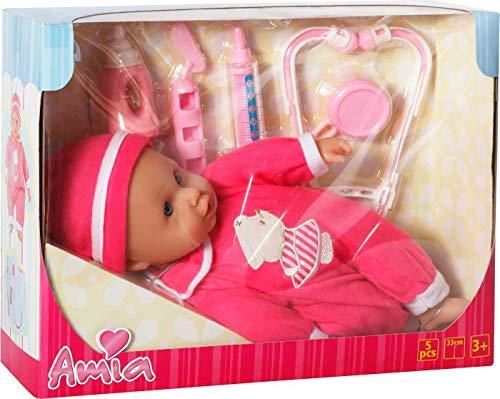Amia Doktor-Puppe mit Zubehör, 33 cm