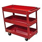 VidaXL 140156 Rollwagen/Servicewagen, maximale Gewichtsbelastung 100kg, 3Ablagen für Werkzeuge