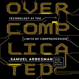 Overcomplicated audiobook cover art