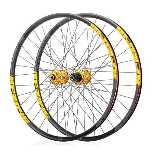 VTDOUQ 27.5 inch MTB bike wheel set, double wall sealed, quick seal bearings hub wheel wheels 32 hole disc brake 8 9 10 speed