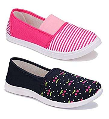 Shoefly Women Multicolour Latest Collection Sneakers Shoes- Pack of 2 (Combo-(2)-1451-11023)