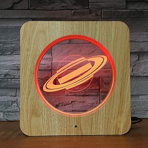Solo 1 pieza Universo planetario 3D LED Luz de noche Lámpara de bricolaje Lámpara de mesa Regalo de color para niños Decoración del hogar