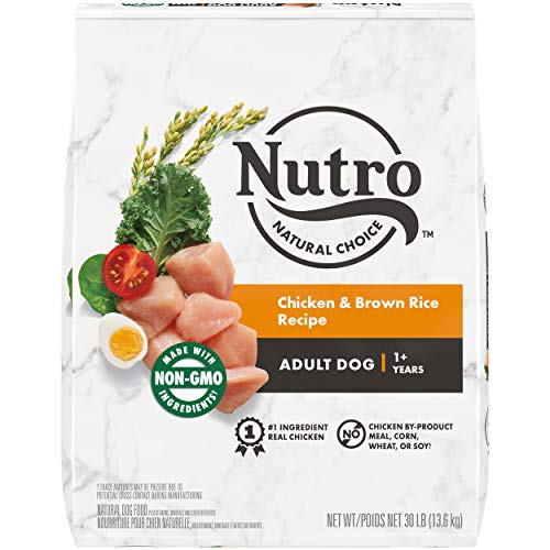 NUTRO NATURAL CHOICE Adult Dry Dog Food, Chicken & Brown Rice Recipe Dog Kibble, 30 lb. Bag