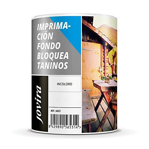 IMPRIMACION FONDO BLOQUEA TANINOS, Imprimación incolora al agua especial para bloquear las manchas producidas por los taninos en las maderas (750 ml)