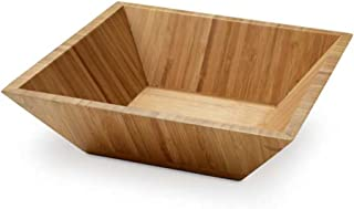 eBuyGBSquare Bamboo Salad Bowl - Dining Table Kitchen Picnic BBQ Serving Wooden
