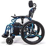 Sillas de ruedas eléctricas para adultos Silla de ruedas eléctrica Silla de ruedas plegable y reclinable silla de ruedas, ancianos y discapacitados de cuatro ruedas del vehículo Cuidado, 150 kg de car