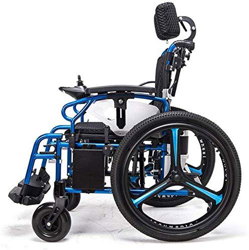 51RLeC3kTsL - Sillas de ruedas eléctricas para adultos Silla de ruedas eléctrica Silla de ruedas plegable y reclinable silla de ruedas, ancianos y discapacitados de cuatro ruedas del vehículo Cuidado, 150 kg de automobile
