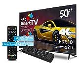 """NPG 530L50UQ 4K 2020 – 50""""4K UHD Smart TV con Mando con Teclado QWERTY y Función MOTION, Android 9.0, Procesador Quad Core, WiFi, DVB-T2/C, PVR, Screen Mirroning, Smart TV multilenguaje"""