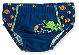 Playshoes Baby-Jungen UV-Schutz Windelhose Krokodil Schwimmwindel, Blau (Marine 11), 74 (Herstellergröße: 74/80)