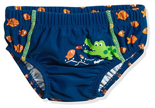 Playshoes Baby-Jungen UV-Schutz Windelhose Krokodil Schwimmwindel, Blau (Marine 11), 86 (Herstellergröße: 86/92)