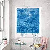 XWArtpic Abstrakte Kreative Tinte Regen Muster Aquarell Leinwand Kunst Malerei Poster Regen Bild Wand Wohnkultur Drucken Wohnzimmer 50 * 70 cm
