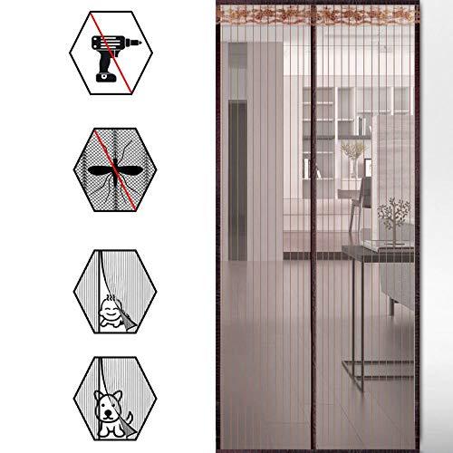 Magnet Fliegengitter Tür, Moskito-Tür Zimmer Balkon Anti-Mücken Soft Screen Tür Magnete automatisch geschlossen Mute Vorhänge geeignet für Balkon Schiebetür Schlafzimmer Wohnzimmer, schwarz
