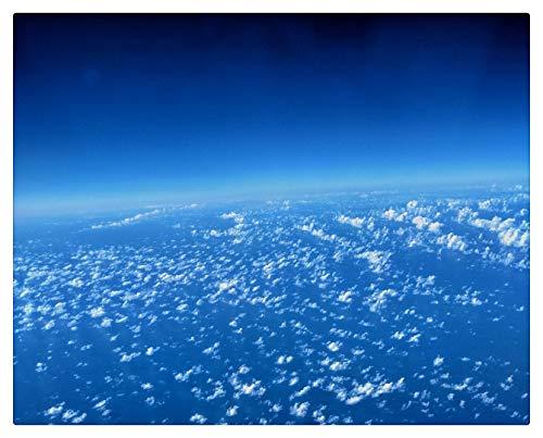 Pintar Por Numeros Adultos Pintura Al Óleo Sobre Lienzo Niños Con Pinceles Y Pigmento Acrílico De 40X50Cm (Marco De Madera) - Nubes Atmósfera Troposfera