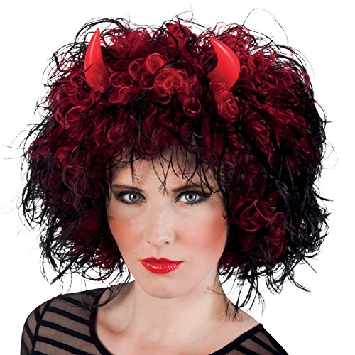 Boland- Parrucca Diavoletta Devil's Mistress con Corna per Adulti, Rosso, Taglia Unica, 86033