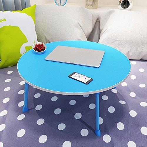 XIA Table d'étude de Table à manger circulaire Petite Table Tableau artificiel Table d'ordinateur portable Table de chevet Noir Bleu Vert Rose Rouge Blanc, Bureau de table d'étude jaune
