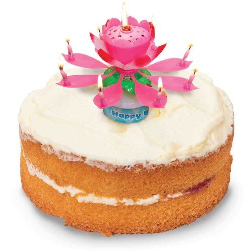 Musical Flower Birthday Candle (Colors vary)