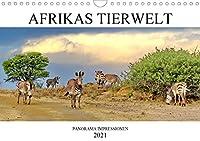 AFRIKAS TIERWELT パノラマ印象派 (Wandkalender 2021 DIN A4 quer)