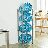 FRITHJILL 4-Tier Water Bottle Holder Cooler Jug Rack,Water Rack Stainless Steel Heavy Duty Water Cooler Jug Rack