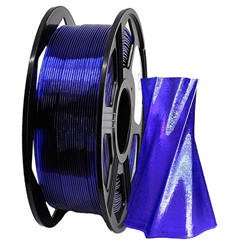 YOYI 3D Printer Filament,PETG Filament 1.75mm 2.2lbs(1kg) Spool, Dimensional Accuracy +/- 0.03 mm,100% Europe Raw Material (Transparent Violet)