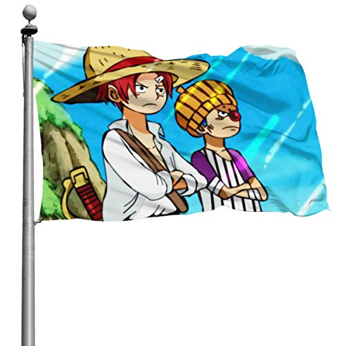 One Piece Buggy Shanks Flag 4 X 6 Foot Durable Outdoor Pennant Anti Uv Anti Fading Indoors Bright Colors Decorative Flags
