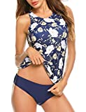 MAXMODA Tankini Swimsuits for Women with Hipster Bottoms Tankini Set Two Piece Bathing Suits