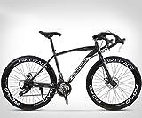ZTYD 26 Pouces Vélo de Route, 27 Vitesses Vélos, Double Frein à Disque, Cadre en Acier au Carbone à Haute, Route de vélos de Course, et Les Femmes des Hommes Adultes Seulement