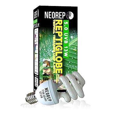 NEOREP Reptile Compact Fluorescent Vivarium Lamp Light 5.0 UVB UVA UV 13W ES Screw by NEOREP