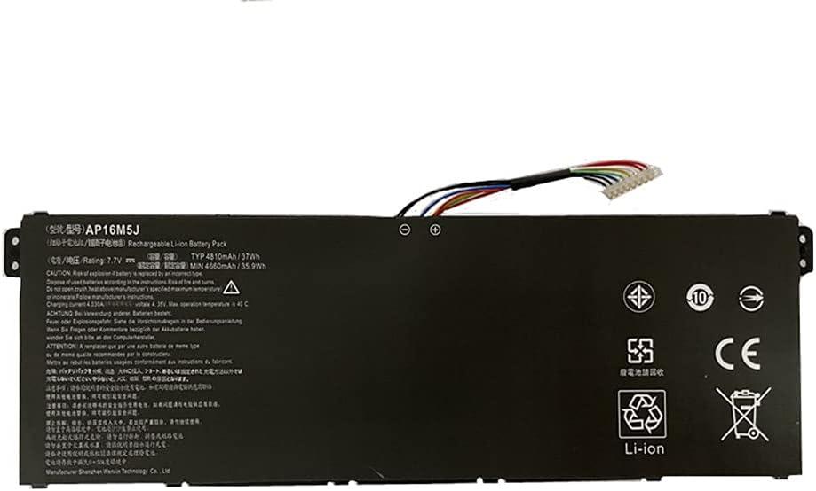 Civhomy Replacement AP16M5J 4810mAh Battery Compatible with Acer Aspire 3 A315-51 Series A315-51-51SL A315-51-380T A315-51-31GK A315-51-31RD A315-51-51B0 A315-51-580N KT.00205.005 KT00205005 7.7V