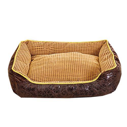 Warm verwijderbaar hondenbed, waterdichte zachte hondenbank met verhoogde rand wasbaar anti-slip hondenkussen mat meerdere maten hondenmand, XXL(120x100x27cm), Zwart