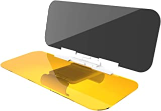 VZCY AUSD1 Medium 2 in 1 Car, Day Glare Sun Visor Extender, Universal Sunshade Mirror Goggles Shield, Night Vision Anti-Dazzle