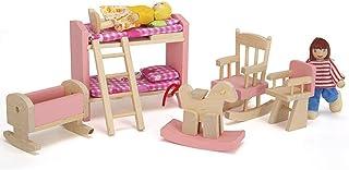 Troflink Mini Cama de pl/ástico con Almohada y s/ábana para casa de mu/ñecas Barbie