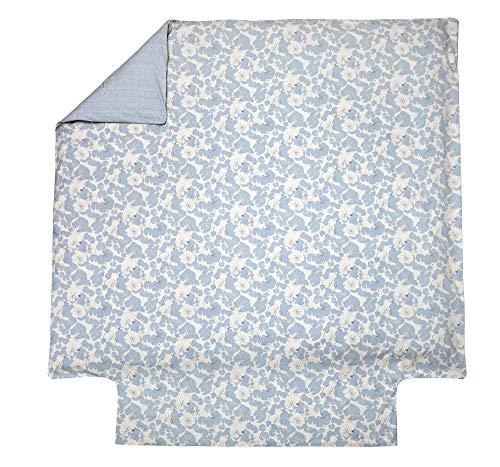 Blanc des Vosges Camouflage Platine Housse de Couette 240 x 220 cm - Percale 100% Coton 80 Fils/cm²