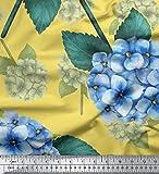 Soimoi Gelb Schwere Canvas Stoff Blätter &