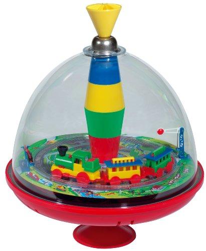 Lena tin toys 52120 Spezialkreisel Eisenbahn mit Chip Spielzeug, 19 cm, Bunt