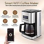 Macchina-Caffe-AmericanoMacchina-da-caffe-Smart-WiFi-argentoacciaio-inossidabile-caraffa-da-12-tazze-filtro-riutilizzabile-compatibile-con-Wi-Fi-Alexa-Google-iOS-Android-e-lapp-Smart-Life