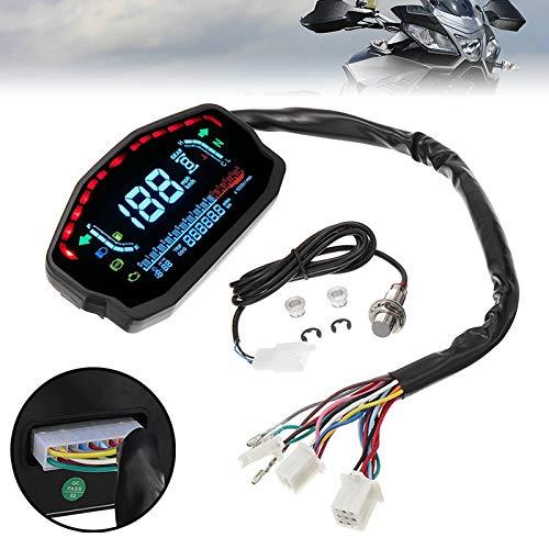 U/D Velocímetro Universal LED LCD velocímetro Digital Backlight cuentakilómetros for B-M-W H-o-n-d-a K-a-w-a-s-a-k i-para Y-a-m-a-h-a